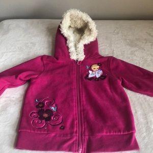 Disney Cinderella hooded zip up sweater XS